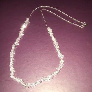 HERKIMER DIAMOND BRACELET•CLEAR & CUT BY A JEWELER